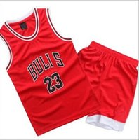 Wholesale childrens clothes - Childrens Sport Clothing Set Sleeveless Boys Basketball Jersey Printed Training Suits YL67