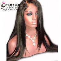 perruques naturelles et abordables achat en gros de-Premier abordable abordable lacet perruques sans colle avant de lacet perruques avec Hairline naturel pré-plumé cheveux remy indien 150 Densité densité
