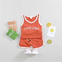 Wholesale comfort sets - Clothing Sets Children's clothing vest set sports boy suit ice silk cotton child comfort can open the file summer