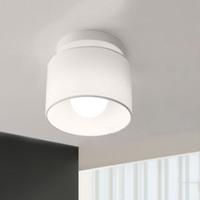 Wholesale Simple Ceiling For Bedroom - Modern Led ceiling lights Home Lighting Dia 18cm Cloth Lamp Shade Simple Ceiling Lamp for Bedroom plafoniera Led Light Fixture