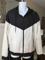 homens casaco casual venda por atacado-Homens Mulheres Esportes Blusão Jaquetas Cores Patchwork Contrato Jaqueta À Prova D 'Água Zíperes Casacos Com Capuz