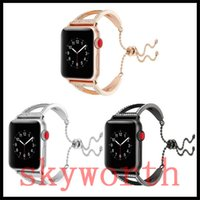 Wholesale girl bracelets watch for sale - Group buy Luxury Stainless Steel Bracelet Diamond Strap For Apple Watch bands iwatch MM MM MM MM Metal Adapter girl gift