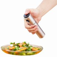 ollas de cocina de acero inoxidable al por mayor-Acero inoxidable Bomba de pulverización fina niebla de la bomba de oliva en spray pulverizador botella de aceite olla de cocina del envío libre de la herramienta