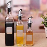toz yağ toptan satış-Toz Geçirmez Yağ Şişeleri Pratik Kalınlaşmak Mutfak Aletleri Temizle Kurşunsuz Cam Sosu Sirke Şişesi CCA9702 20 adet
