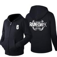 Wholesale cosplay six online - 2018 Tom Clancy s Rainbow Six Siege Game Cosplay Hoodie Men s autumn Winter Casual Fleece Sweatshirt Zip Up Hoodie Cotton Coat
