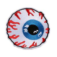 ferro aplique olhos venda por atacado-Remendo bordado Ocular Globo Ocular Ferro De Costura Em Crachá Criativo Para O Saco de Calça Jeans Chapéu Apliques DIY Handwork Etiqueta Decoração Vestuário Acessórios