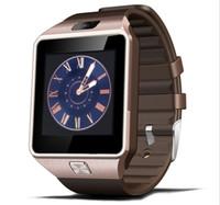 smartwatch gv18 оптовых-DZ09 Smart Watch Sync Notifier поддержка Sim-карты подключение Bluetooth для Android IOS Smartwatch PK GV18 GT08 Q18