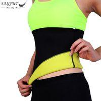 f3bbdb99f88e2 Hot Sweat Neoprene Body Shaper Slimming Belt Waist Cincher Girdle For Weight  Loss Women   Men Stomach Waist Trainer Shapewear