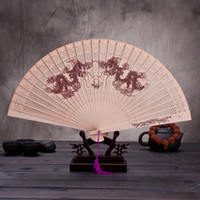 Wholesale fragrant wood for sale - Group buy Folding Fans Antiquity Women Dance Fragrant Wood Hand Fan Customizable Wedding Favors For Guest Gifts Arts And Crafts jg gg