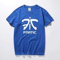 Wholesale Lol Shirts - LOL Fnatic Team Logo Printed T Shirt Men New Summer Short Sleeve O-Neck Cotton Funny Game Uniforms Tee Shirt Homme