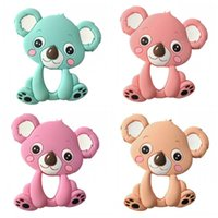 Wholesale cute koala - Silicone Teethes Stick Koala Animal Design Baby Chewing Toys Cute Food Grade Teething Tools Teether Pacifier Toy Free Shipping 8jh Z