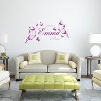 Wholesale personalized nursery art for sale - Butterfly Personalized DIY Vinyl Decorative Butterflies Fashion Wall Art Nursery Girl Wall Sticker Wall Stickers for Kids Rooms