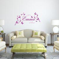 dekorative wandkunst schmetterlinge großhandel-Schmetterling personalisierte diy vinyl dekorative schmetterlinge mode wandkunst kindergarten mädchen wandaufkleber wandaufkleber für kinderzimmer
