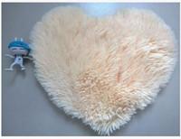 alfombras de dormitorio mullidas al por mayor-Inicio 40 * 50cm Alfombra Chenille en forma de corazón Alfombra de dormitorio mullida Sala de estar Mesa de centro Alfombra de lana Alfombrillas de corazón Alfombra Piso