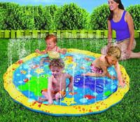 jogos de natação venda por atacado-Piscina bebê wading kiddie esguicho divertido piscina squirtsplash ao ar livre esteira de spray de água para Lawn Beach Play Game Assento Aspersor