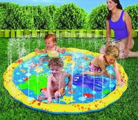 Wholesale water baby seat - Swimming pool baby wading kiddie squirt fun pool outdoor squirt&splash water spray mat for Lawn Beach Play Game Sprinkler Seat