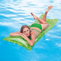 Wholesale outdoor beds inflatable for sale - Outdoor Camping Airbed Wavy Transparent Water Pool Floating Row Ultralight Moistureproof Inflatable Bed Tricolor Optional Hot Sale wx Y