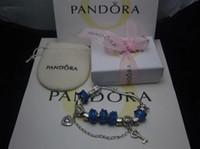 925 freie pandora großhandel-VERKAUF 2018 neue Pandora 925 Charm Sterling Silber Perlen Armbänder mit Box versandkostenfrei