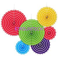 Home & Garden Wedding Background Backdrop Paper Flowers 6pcs/ Lot Colorful Paper Fan Pinwheel Backdrop For Baby Shower Birthday Decoration 7z Festive & Party Supplies