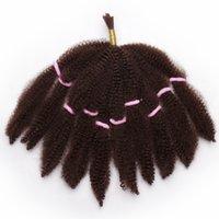 ombre кудрявые волосы оптовых-ombre цвет афро кудрявый вьющиеся волосы сыпучие синтетические наращивание волос Короткие ошибка блондинка 10 дюймов 50 грамм braied твист волос для чернокожих женщин