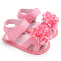 Wholesale sweet pu shoes resale online - Summer Sweet Baby Girls Princess Style Cute Flower Crib Infant Toddler Soft Soled Shoes Sandal