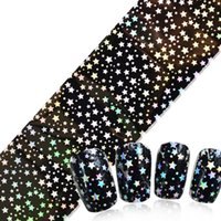 harajuku nagelaufkleber großhandel-Nail Art Sticker Tipps Dekoration Nails Wraps Harajuku Sternenhimmel Neue Designs Manicura Aufkleber Nagelaufkleber