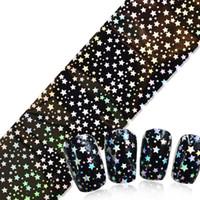 3d nail art bow yeni toptan satış-Nail Art Etiketler İpuçları Dekorasyon Çivi Sarar Harajuku Yıldızlı Gökyüzü Yeni Tasarımlar Manicura çıkartmalar tırnak çıkartmaları