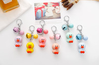 Wholesale Crosses Hang Car - Hot Sale Cute Lovely Duck Keychain Cartoon Duck Key Ring Animal Bag Hanging Pendant Decoration For Men Women Gift 12pcs Set D537L
