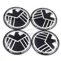 cubo de roda universal venda por atacado-SHIELD Legal Universal Carro Volante Centro Tampão de Hub Emblema Emblema Decalque Símbolo Rodas Etiqueta para BMW Nissan Nissan Toyota VW