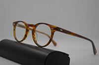 marcos de anteojos redondos vintage para hombres. al por mayor-Oliver pueblos ov5186 moda Gregory Peck marcos de anteojos redondos mujeres miopía ópticos de la vendimia y los hombres gafas de prescripción de lentes de sol
