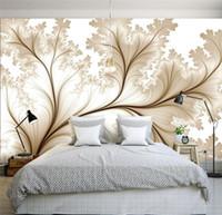 cenário da parede do quarto venda por atacado-Minimalista moderno 3d simples flores papel de parede personalizado para paredes 3 d foto papel de parede 3d quarto TV pano de fundo