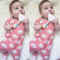 Wholesale cute toddlers onesie for sale - Group buy 2019 New Baby Romper Girls Jumpsuit Summer Cute Cloud Eyelash Smile Print Rompers Infant Onesie Fashion Toddler Bodysuit
