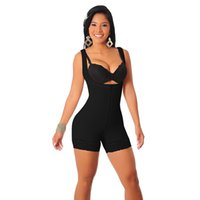 Wholesale full body shaper plus size - Plus Size 6XL Slimming Zipper Full Body Shaper Underwear Waist Corset Tummy Trimmer Firm Control For Women Hot Shaper Shapewear