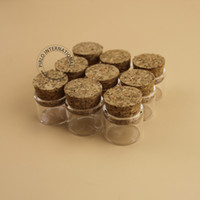 Wholesale Test Tubes Glass Stoppers - Hot Sale 5g Small Glass Bottles With Corks Stoppers 5ml High Quality Glassware Glas Jar Mini Test Tube 50pcs lot Free Shipping