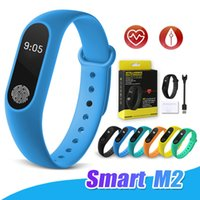 Wholesale control exercise - Smart Bracelet M2 Watch Fitness Exercise Tracker Sport Smart Wristband Pedometer Heart Rate Monitor Waterproof Call reminder With Package