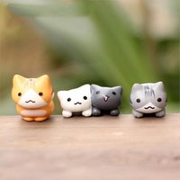 ingrosso ornamenti da giardino animale-Cartoon Kitten Micro Landscape Decorazioni da giardino Miniature Home Decor Home Decor Lucky Cat Jungle Animal Decal Art Home Decor Ornamento fai da te