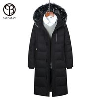 Wholesale Men S Clothing Goose - Asesmay 2017 brand clothing men down jacket thick men's winter coat x-long down parkas hooded high quality goose feather outwear