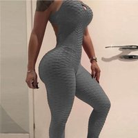 Wholesale yoga jumpsuits for sale - Group buy Sport Suit Women Fitness Yoga Set Gym Sport Jumpsuits Solid Slim Sexy Stretchy Slim Gym Running Sets Sportswear Sports Tracksuit