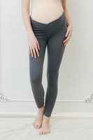 Wholesale maternity leggings resale online - Spring Autumn Maternity Leggings Low Waist Pregnancy Belly Pants For Pregnant women Maternity Thin Trousers Clothes Leggings