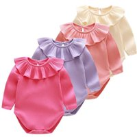 Wholesale baby girl outfits hot pink for sale - Group buy Hot Sale Spring Autumn Baby Girl Knitted Rompers Princess Newborn Baby Clothes Girls Boys Long Sleeve Jumpsuit Kids Baby Outfits Clothes