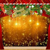botas de vinilo al por mayor-5x7ft Vinilo Estrella de Navidad de Navidad Fotografía de fondo de fondo de estudio de fotografía