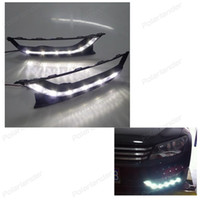 Wholesale Car Pa - 2 pcs auto part Daytime Running Light Car-styling Fog Lamp for V olkswagen New Pa ssat 2011-2015