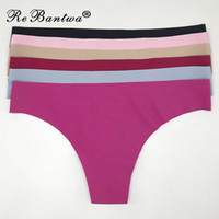 Wholesale thongs underwear for women - wholesale Ultra-thin G string Underwear Women Seamless Panties Sexy Ladies Thongs G-strings Tangas Lingerie for Women 2018 New