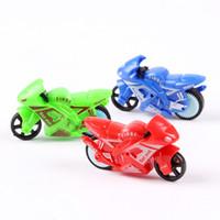 ingrosso set in miniatura-Suzakoo Miniature Giocattoli super mini dimensioni moto veicolo giocattolo un set di colori casuali per i bambini