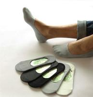 chaussettes en coton achat en gros de-Chaussettes pour hommes Chaussettes en coton décontractées Chaussettes classiques pour hommes Slippers invisibles Bouche peu profonde