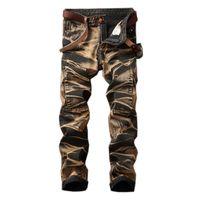 Wholesale black jeans men bootcut - 2017 Warm Jeans Men Winter Vintage Skinny Jeans Fashion Straight Biker Denim Casual Male Pants Jogger Big Size 29-42