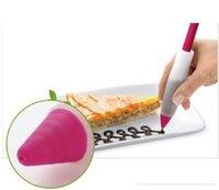 plätzchen verzieren spritze großhandel-zufällige farbe Silikon Kuchen Gebäck Cookie Icing Dekorieren Spritze Creme Schokolade Platte Pen Backformen Werkzeuge