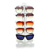 compteur de lunettes de soleil achat en gros de-Lunettes de soleil En Plastique Cadre Présentoir 5 Couches 3 Couleurs Lunettes Lunettes Coloré Lunettes Présentoir Comptoir Titulaire Rack