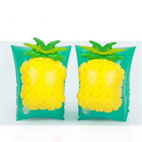 Wholesale baby inflatable swimming float ring online - Lovely Baby Kids Floating Ring Pineapple Creative Mould Proof Lovely Fashion Swimming Arm Rings Bathing Float Inflatable ls jj