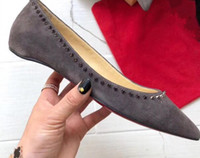 talons gris pour les femmes achat en gros de-2018 nouvelle mode talon plat classique pompes à bout pointu meilleure vente femmes appartements chaussures gris Hunter vert couleur noire